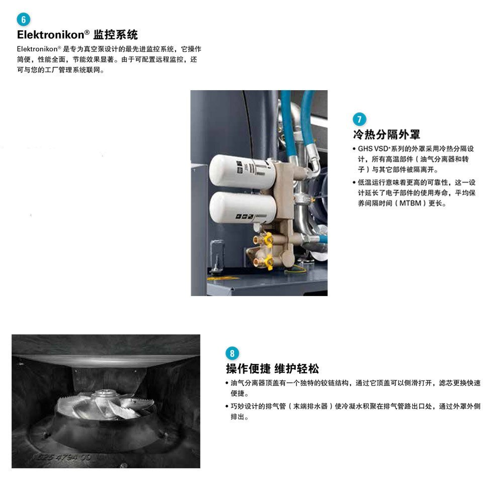 阿特拉斯真空泵,螺杆式真空泵系统
