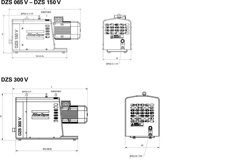 干式爪泵 螺杆干式爪泵结构原理图