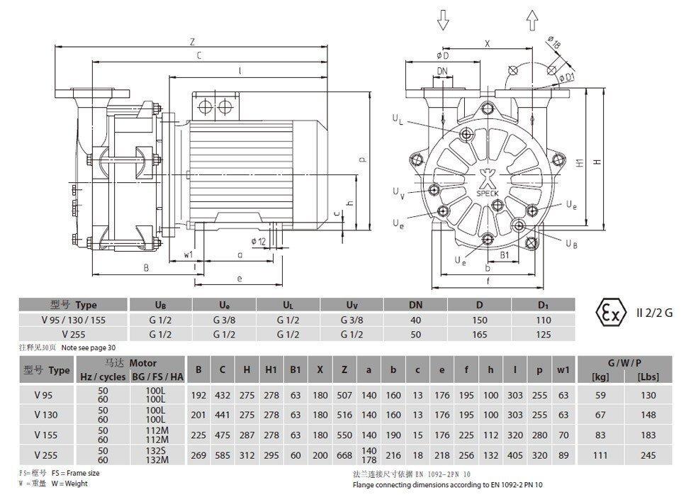 司倍克水环真空泵v95