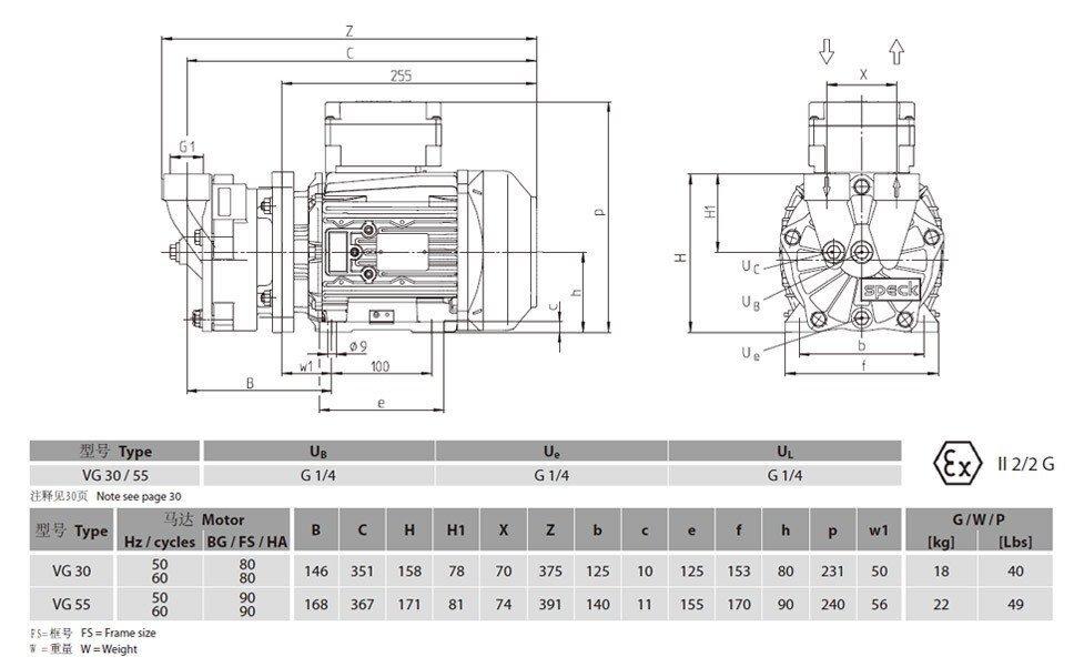 vg30水环真空泵原理图