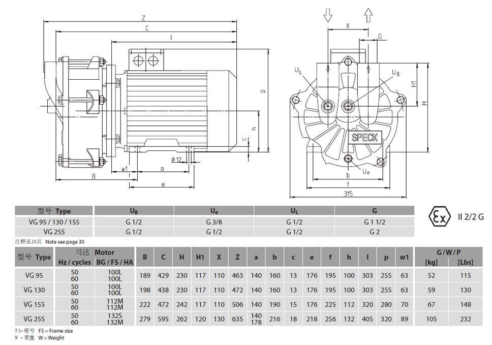 vg95水环真空泵工作原理图