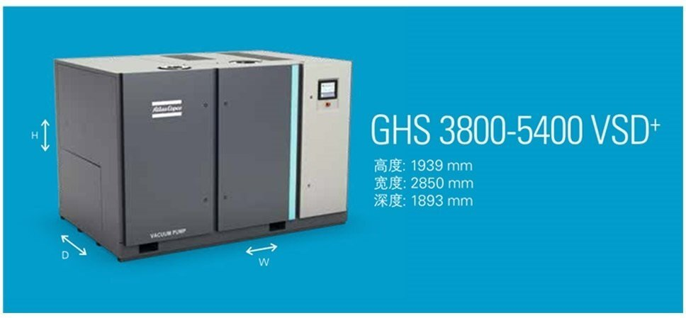 Atlas 螺杆式真空泵GHS3800-5400VSD+