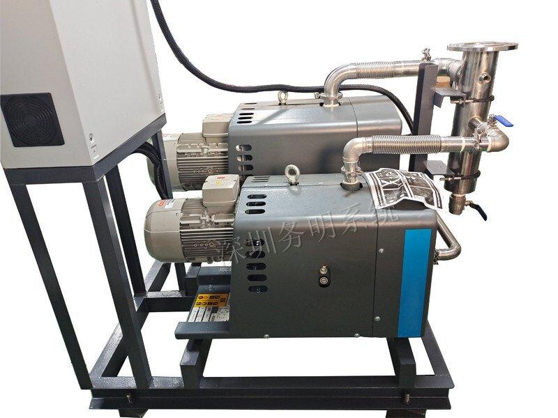 锂电池电解液抽真空干式罗茨真空机组替代旋片真空泵